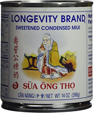 Longevity Sweetened Condensed Milk 14 Oz. (Pack of 2)