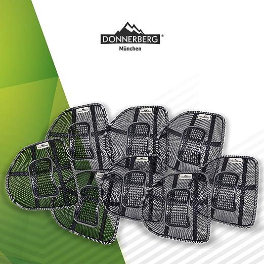 Donnerberg Respaldo Lumbar Ergonómico - Soporte Lumbar para sillas de Oficina Asientos de Coche - Cojín Lumbar - Apoyo Lumbar - Almohada Lumbar- ...