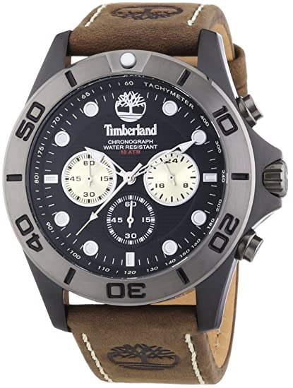 Timberland TBL.13909JSBU/02 - Reloj analógico de cuarzo para hombre, correa de cuero color marrón: Amazon.es: Relojes
