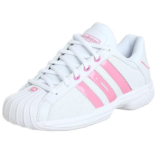 adidas Big Kid Superstar 2G Ultra Basketball Shoe,White/Pink/Pink,6