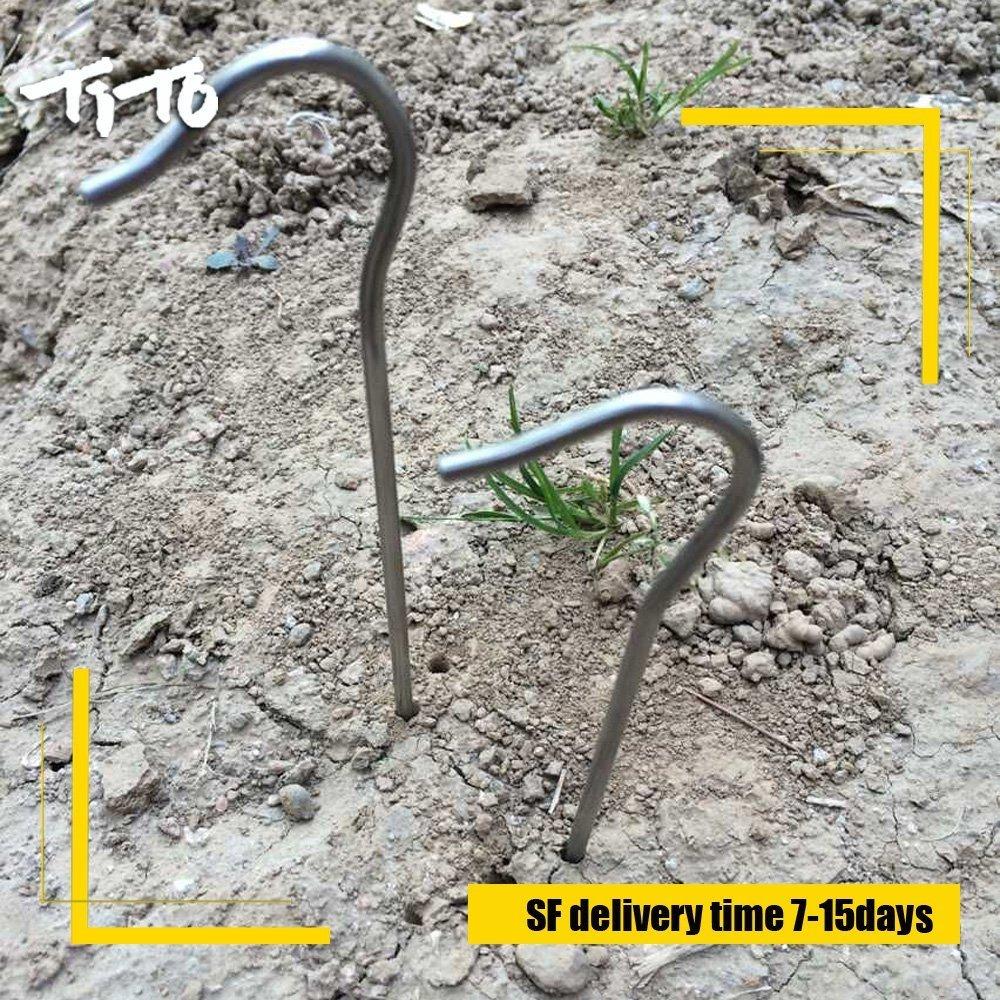 Tito titanio estacas pastor gancho de 3,5/mm de di/ámetro y longitud 165/mm aproximadamente 8,2/G. 6-Pack
