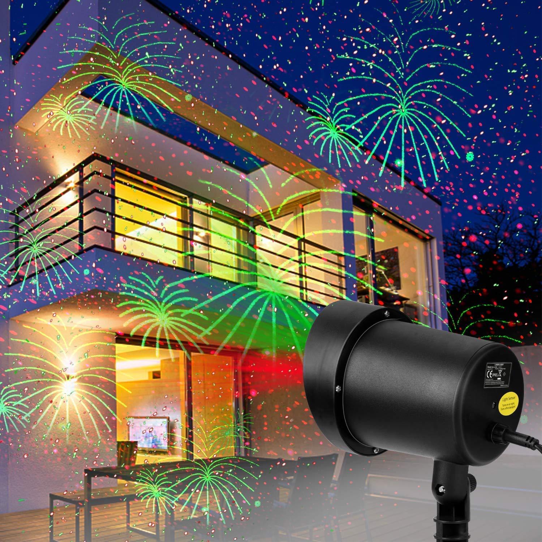 Laser Lights Projector Outdoor Christmas Decorations Motion Holiday Dectorative Light Show Outdside Xmas Projector Waterproof for Christmas Party Landscape Garden Decoration