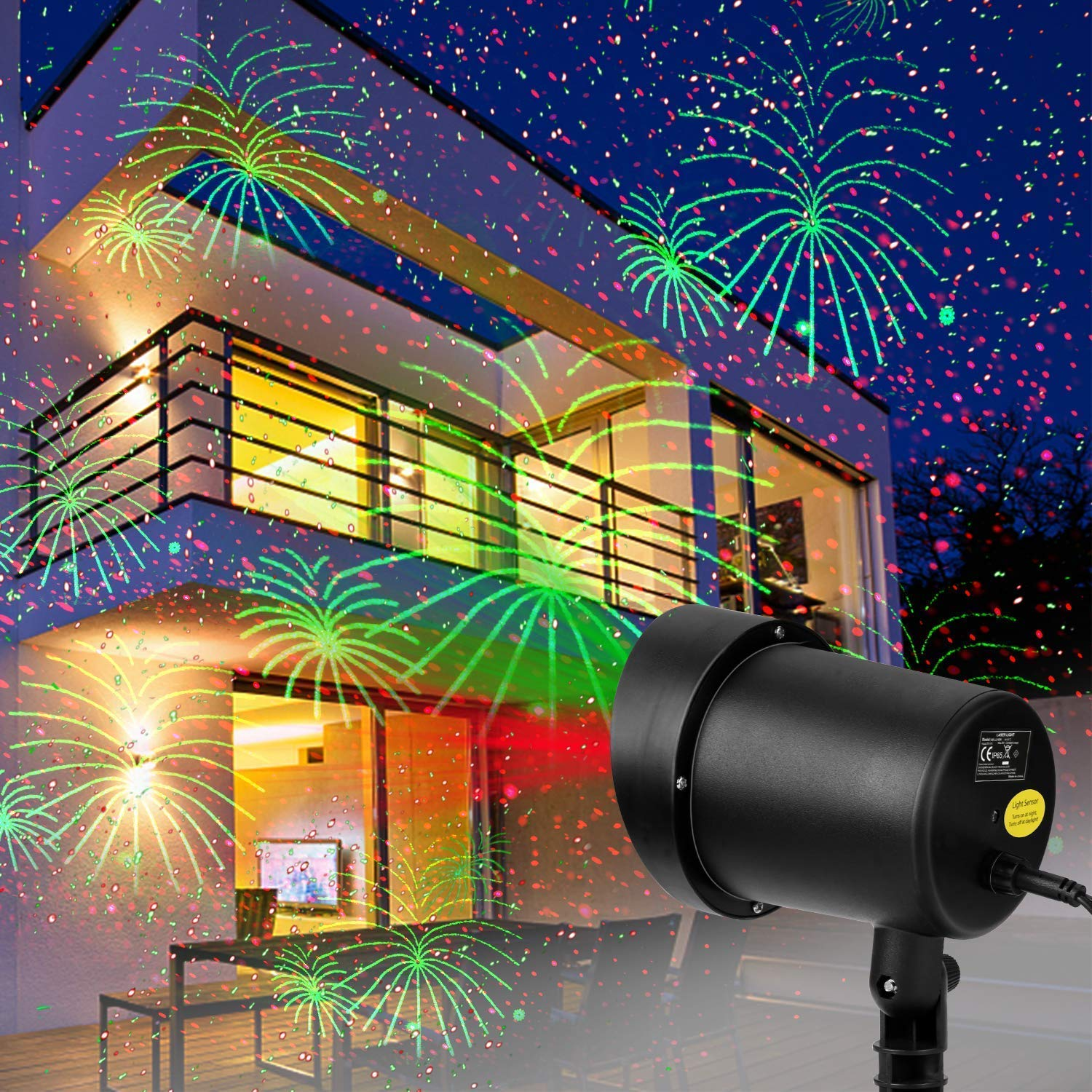 Weeding Party Decorative Fireworks Laser Lights Outdoor,Waterproof Motion Fireworks Lights Show for Theme Party, Wedding, Night Club Celebration Holiday Decorations