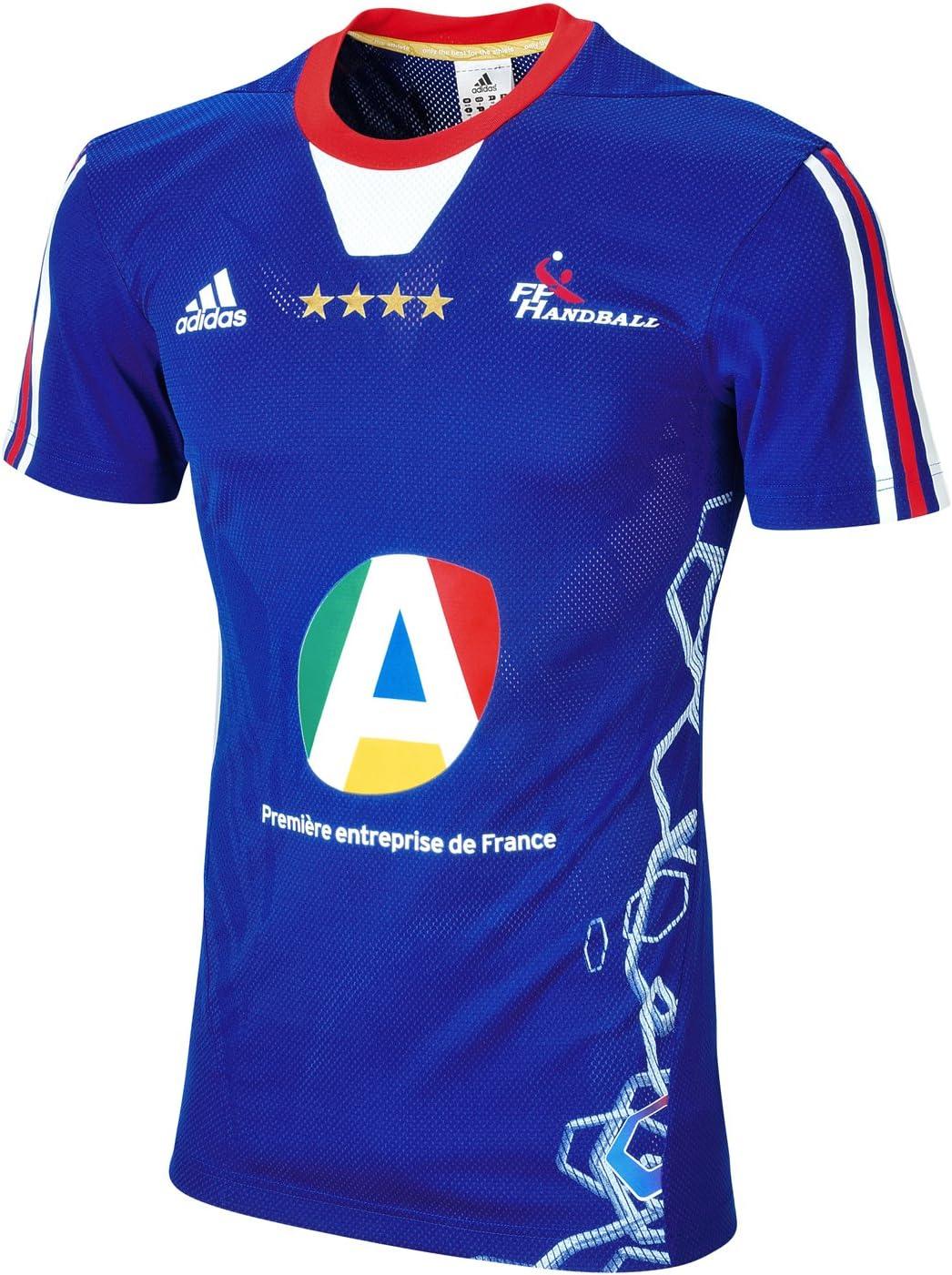 adidas 190103 T:192 Camiseta de Balonmano de la selección de Francia (Temporada 2012-2014), Color Azul: Amazon.es: Deportes y aire libre