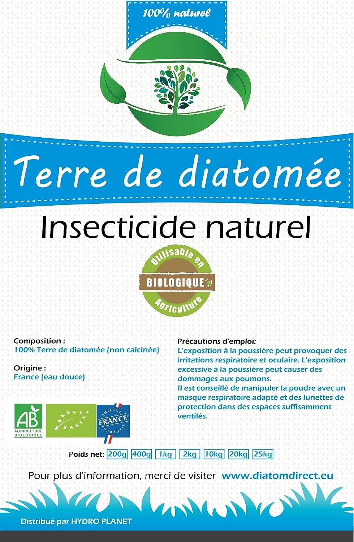 HYDROPLANETE Terre de Diatomée Grise 200g 1kg 2kg 10kg - Insecticide 100% Naturel, utilisable en Agriculture Biologique - Origine France (2kg)