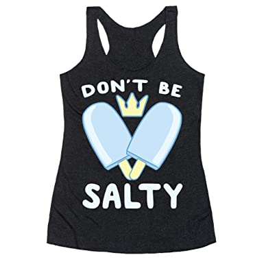 54a0ff3f52d5cf Amazon.com: LookHUMAN Don't Be Salty - Kingdom Hearts Heathered Black  Women's Racerback Tank: Clothing