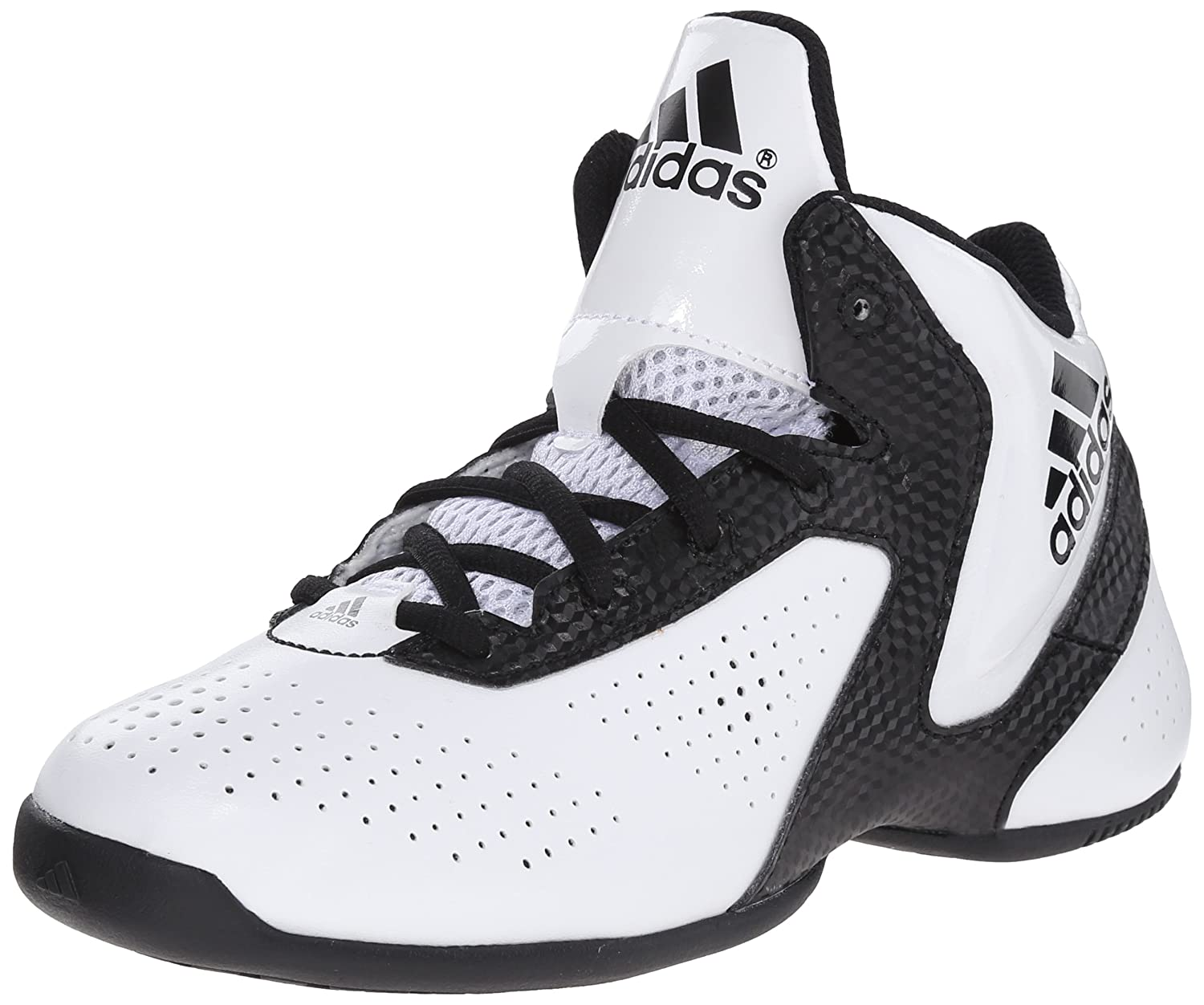 adidas Performance NXT LVL SPD Next Level Speed 3 K Basketball Shoe (Little Kid/Big Kid) White/Black/White 10.5 M US Little Kid NXT LVL SPD 3 K - K