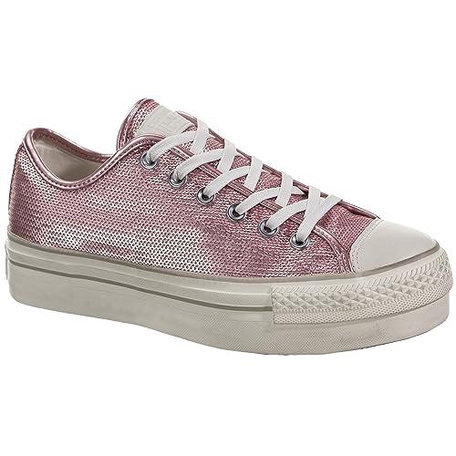 e5b8b244cf43f Converse Womens CTAS Platform Distressed Ox Pink Nectar Chateau Grey ...