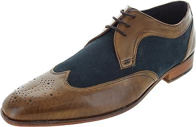 eed949ec4758 Gucinari Men s Amp 016 1 Brogue Shoes Tan Navy 11 UK  Amazon.co.uk ...