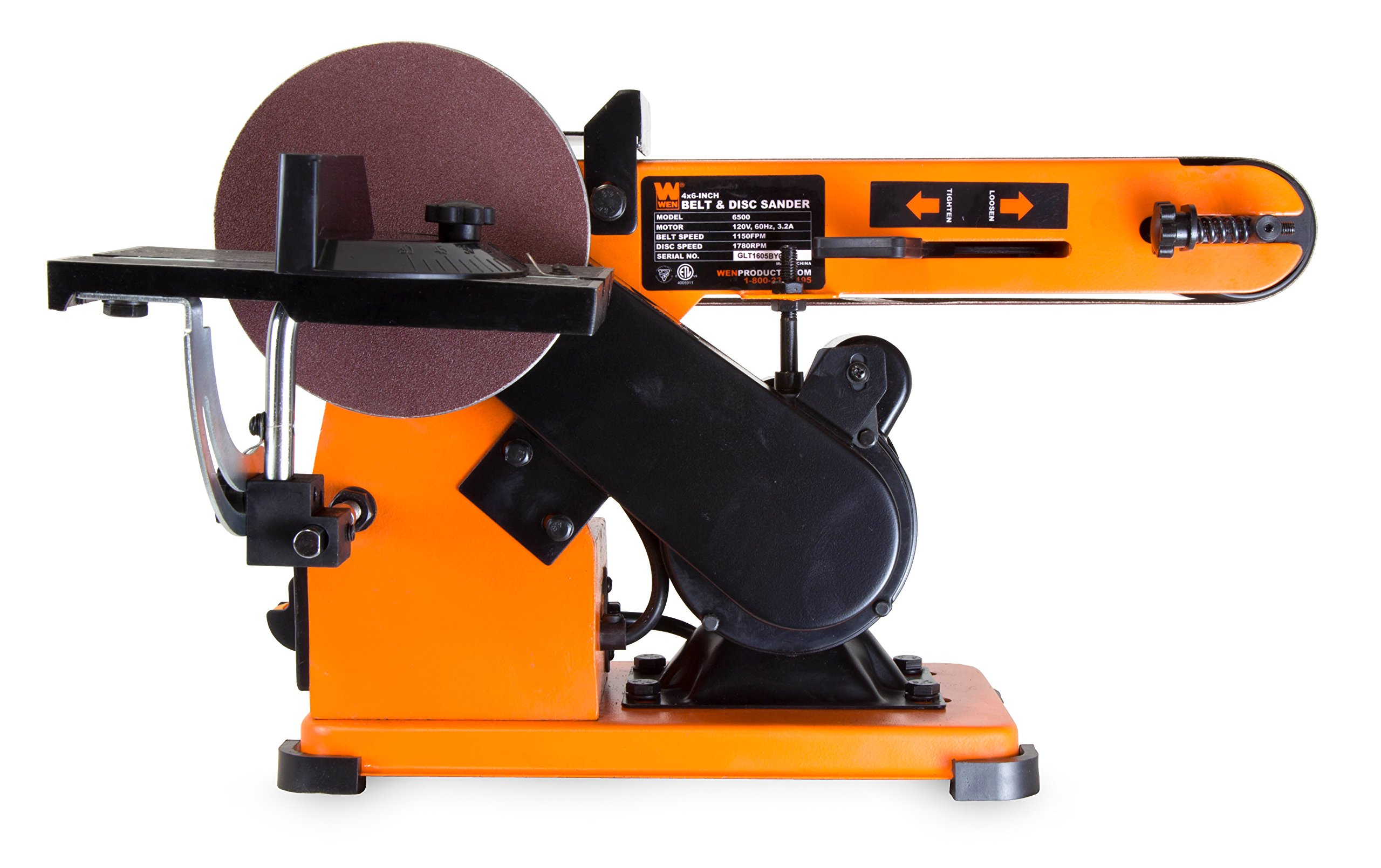 WEN 6500 4 x 36-Inch Belt and 6-Inch Disc Sander with Steel Base by WEN (Image #4)