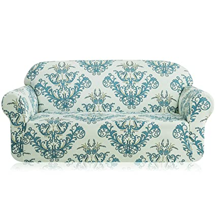 TIKAMI Stretch Sofa Slipcovers Printed Floral Couch Covers for Loveseat  Washable Furniture Protector for Living Room(Loveseat, Green)