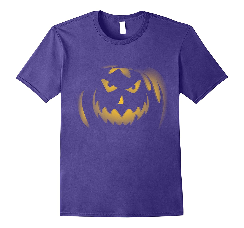 Scary Halloween Pumpkin T-Shirt Neon Yellow Glow 3D FX-TJ
