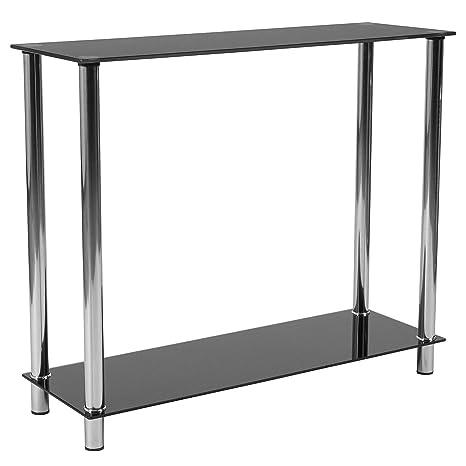 Amazon.com  Flash Furniture Riverside Collection Black Glass Console ... b428e5b8b