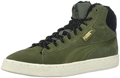 PUMA Mens 1948 mid Suede Hight Top Lace Up Fashion Sneakers