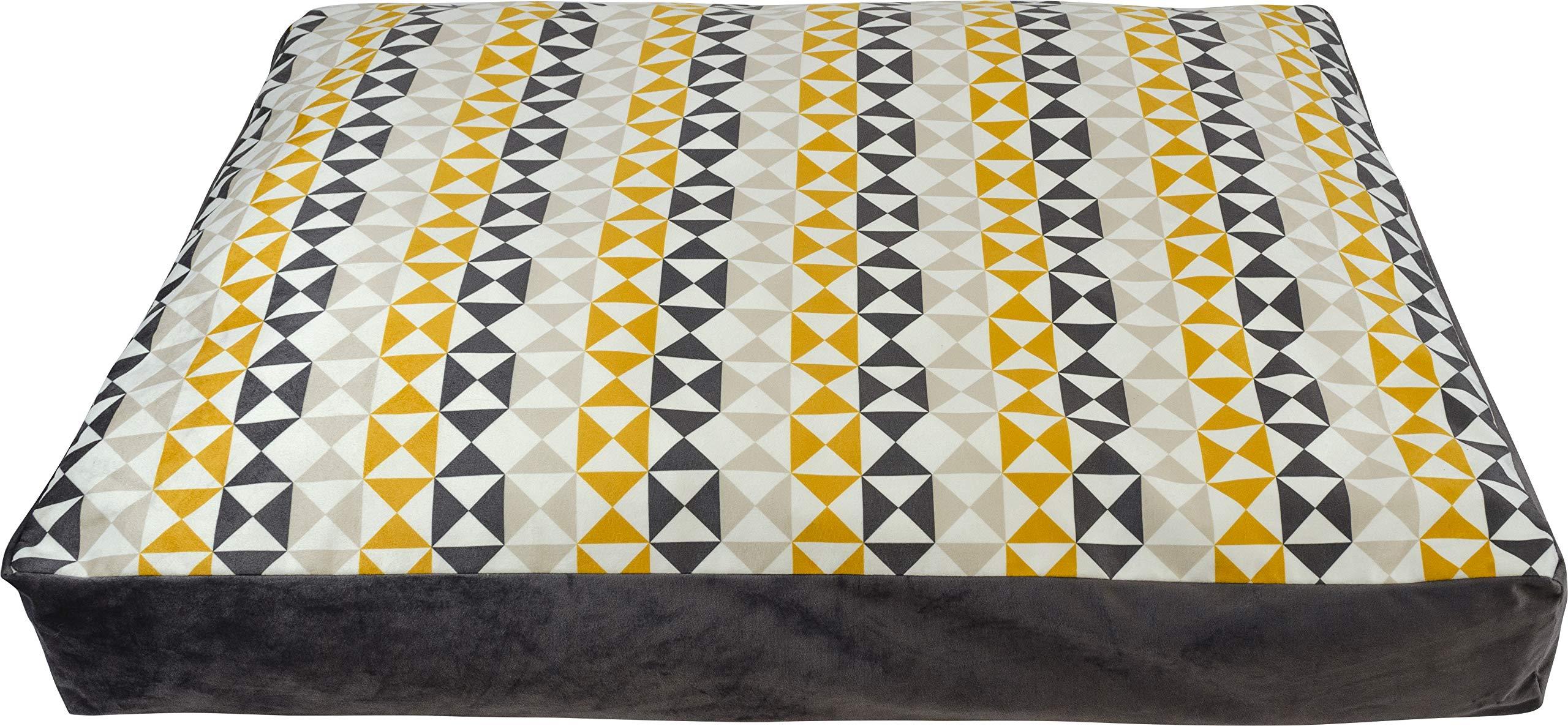 Urban Loft by Westex PSLMODXXL Triangle Design Luxury Pet Bed, 52'' x 35'' x 6''