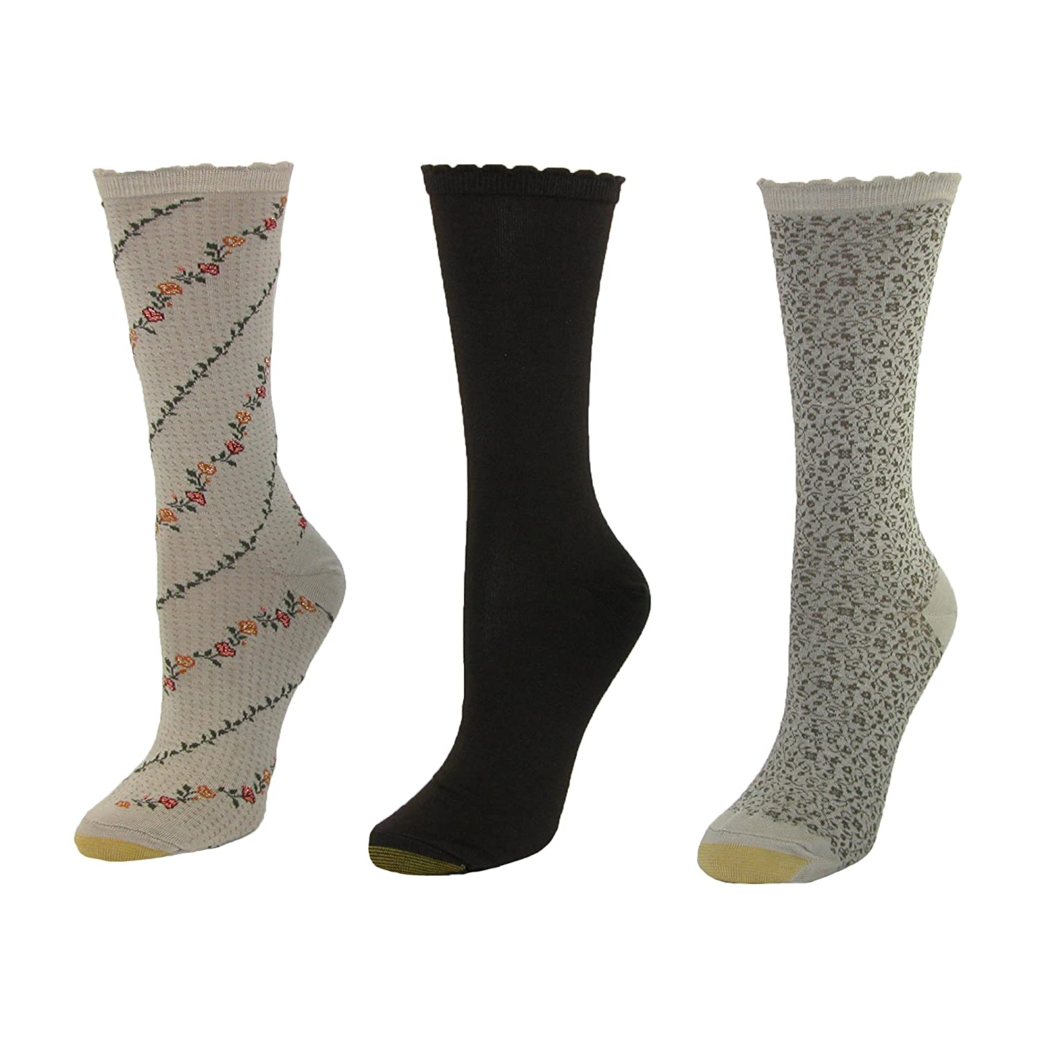 Gold Toe Women's Plus-Size 3 Pair Pack Crew Socks