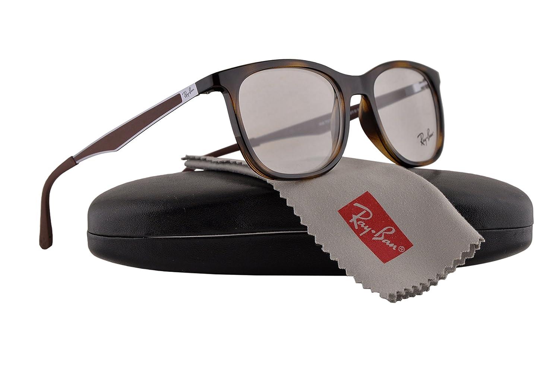 881a43ed10 Ray Ban RX7078 Eyeglasses 51-18-145 Shiny Havana 2012 RX 7078   Amazon.co.uk  Clothing