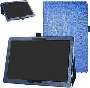 "Lenovo Smart Tab M10 /P10 Case,Bige PU Leather Folio 2-Folding Stand Cover for 10.1"" Lenovo Smart Tab P10 (TB-X705F) /Smart Tab M10 (TB-X605F) Tablet,Dark Blue"