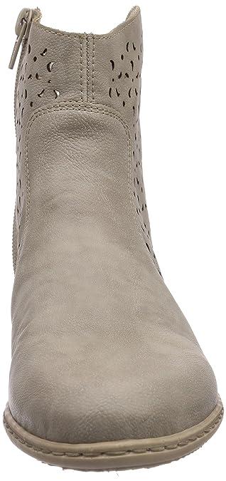 Rieker Y0766 Damen Halbschaft Stiefel Grau (Elefant 42