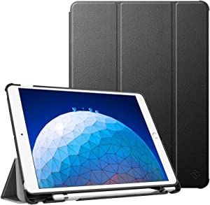 """Fintie Case for iPad Air (3rd Gen) 10.5"""" 2019 / iPad Pro 10.5"""" 2017 - [SlimShell] Ultra Lightweight Standing Protective Cover with Built-in Pencil Holder, Auto Wake/Sleep (Black)"""