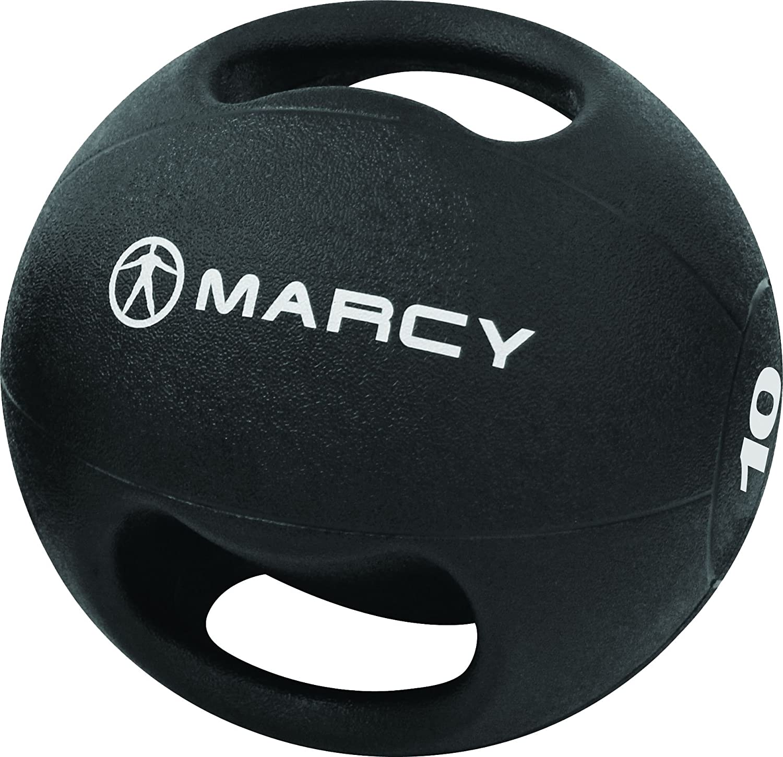 Marcy Dual Gripp Balón Medicinal con asas, 3 - 10 kg negro schwarz ...