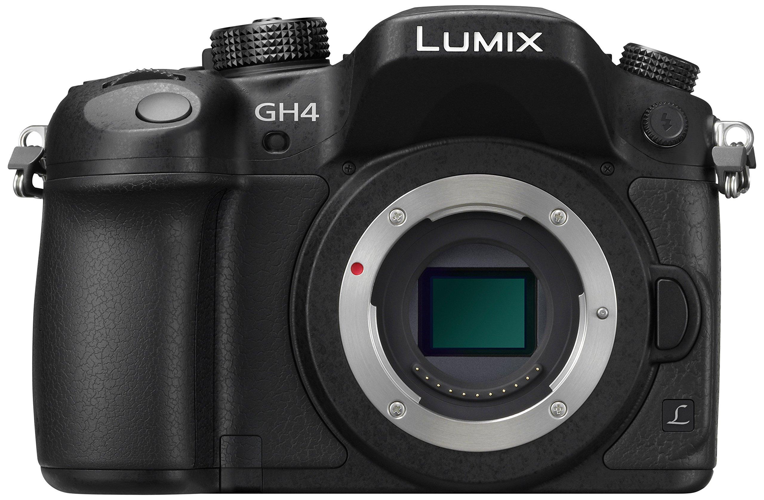 Panasonic Lumix DMC-GH4RE-K Fotocamera Mirrorless, Solo Corpo, 16 Megapixel, Schermo Touchscreen OLED, Wi-Fi, NFC, Nero product image