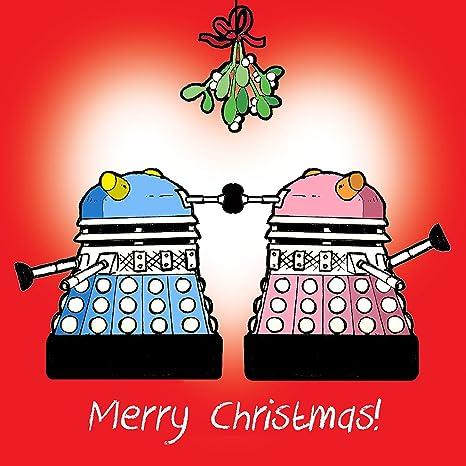 Auguri Di Buon Natale Ufficio.Twizler Biglietto Di Auguri Di Buon Natale Con Dalek E