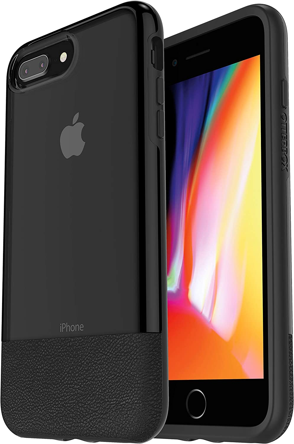 OtterBox Clear & Leather Case for iPhone 8 PLUS and iPhone 7 PLUS - Non-Retail Packaging - Lucent Black