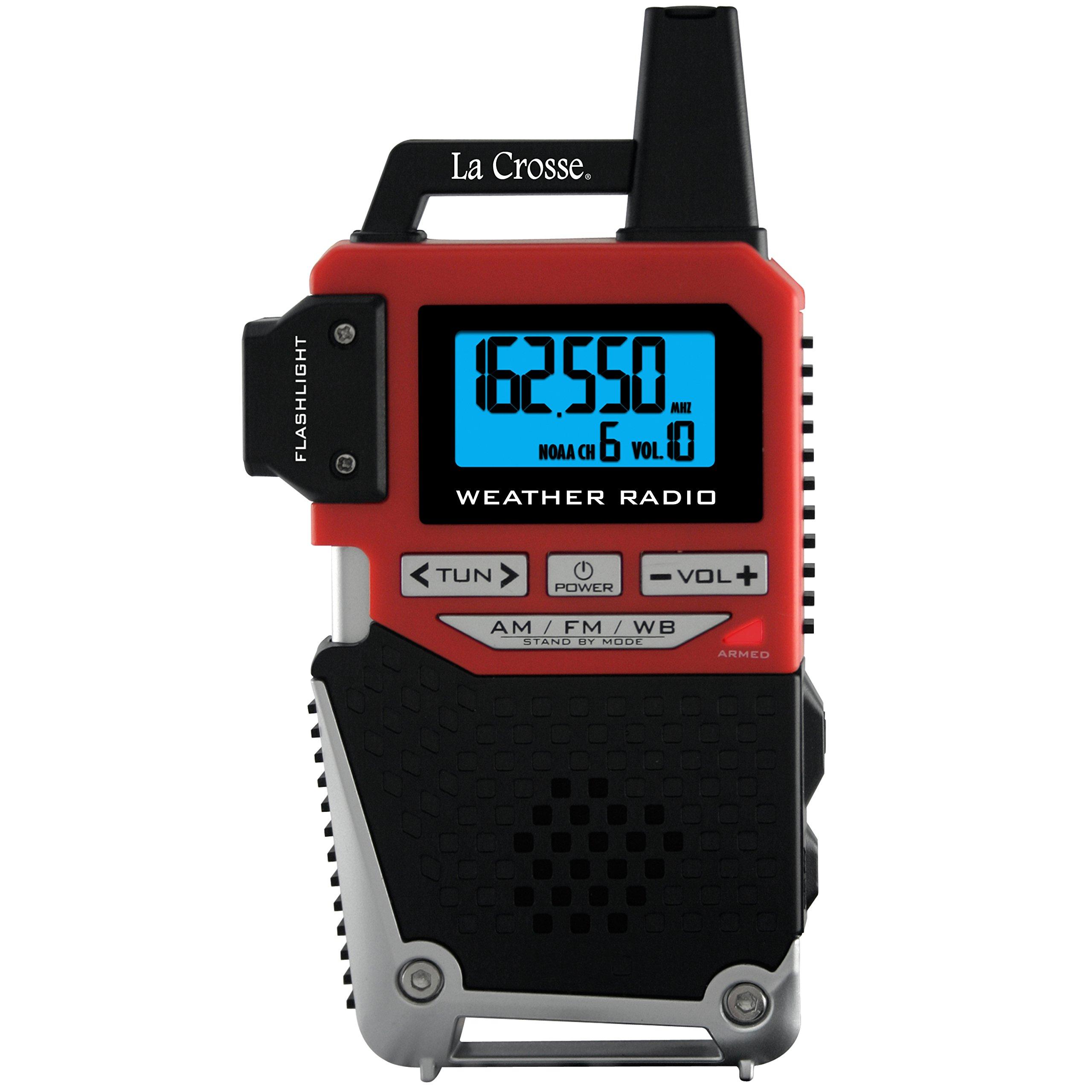 La Crosse Technology 810-1461 NOAA Weather Alert Handheld Radio with Flashlight
