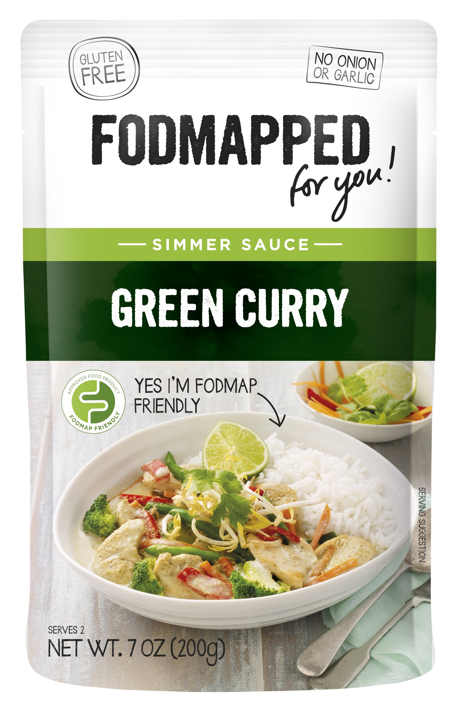 FODMAPPED - Low FODMAP Green Curry Simmer Sauce 7 OZ (200g)