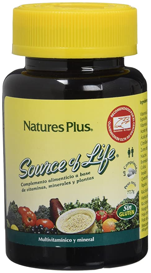 Natures Plus Source Of Life - 60 Comprimidos: Amazon.es: Salud y ...