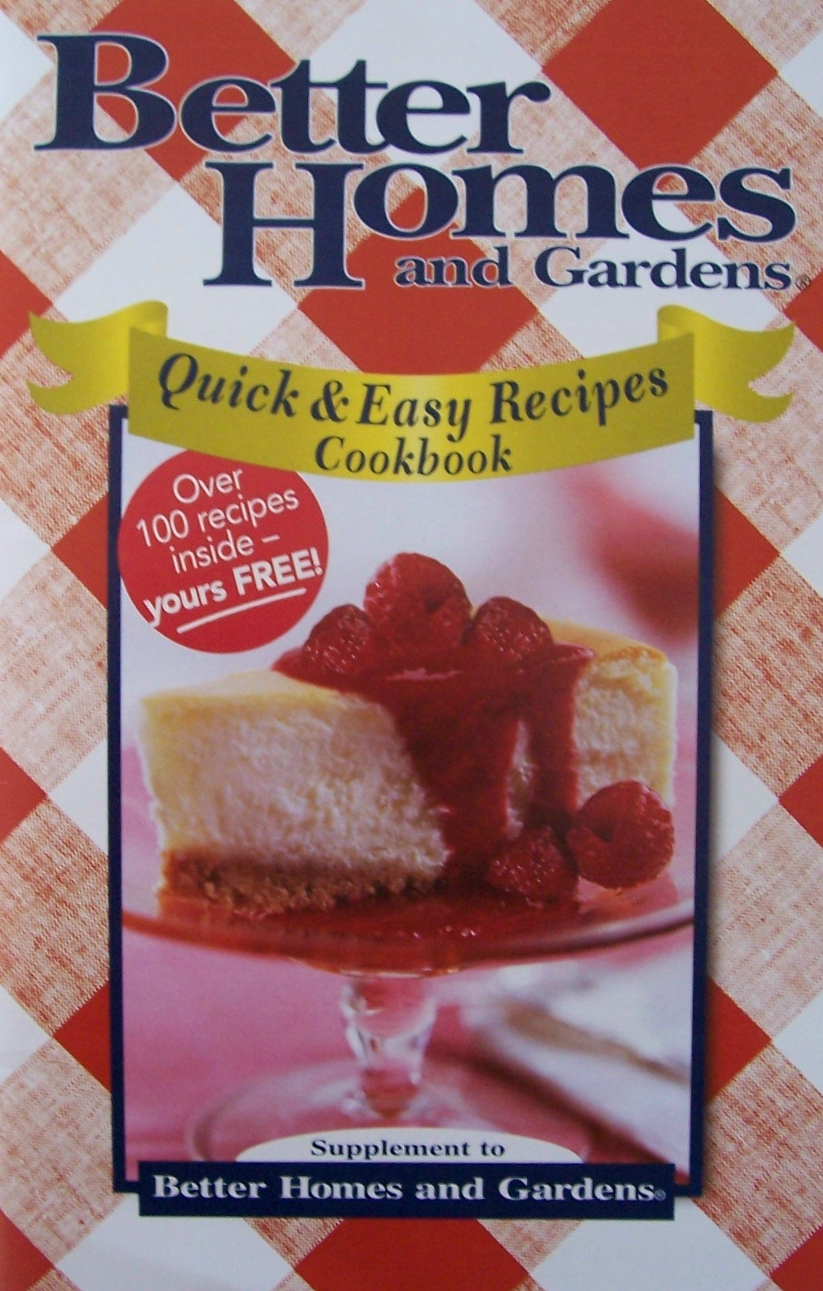 Read Online Better Homes and Gardens Quick and Easy Recipes Cookbook pdf epub