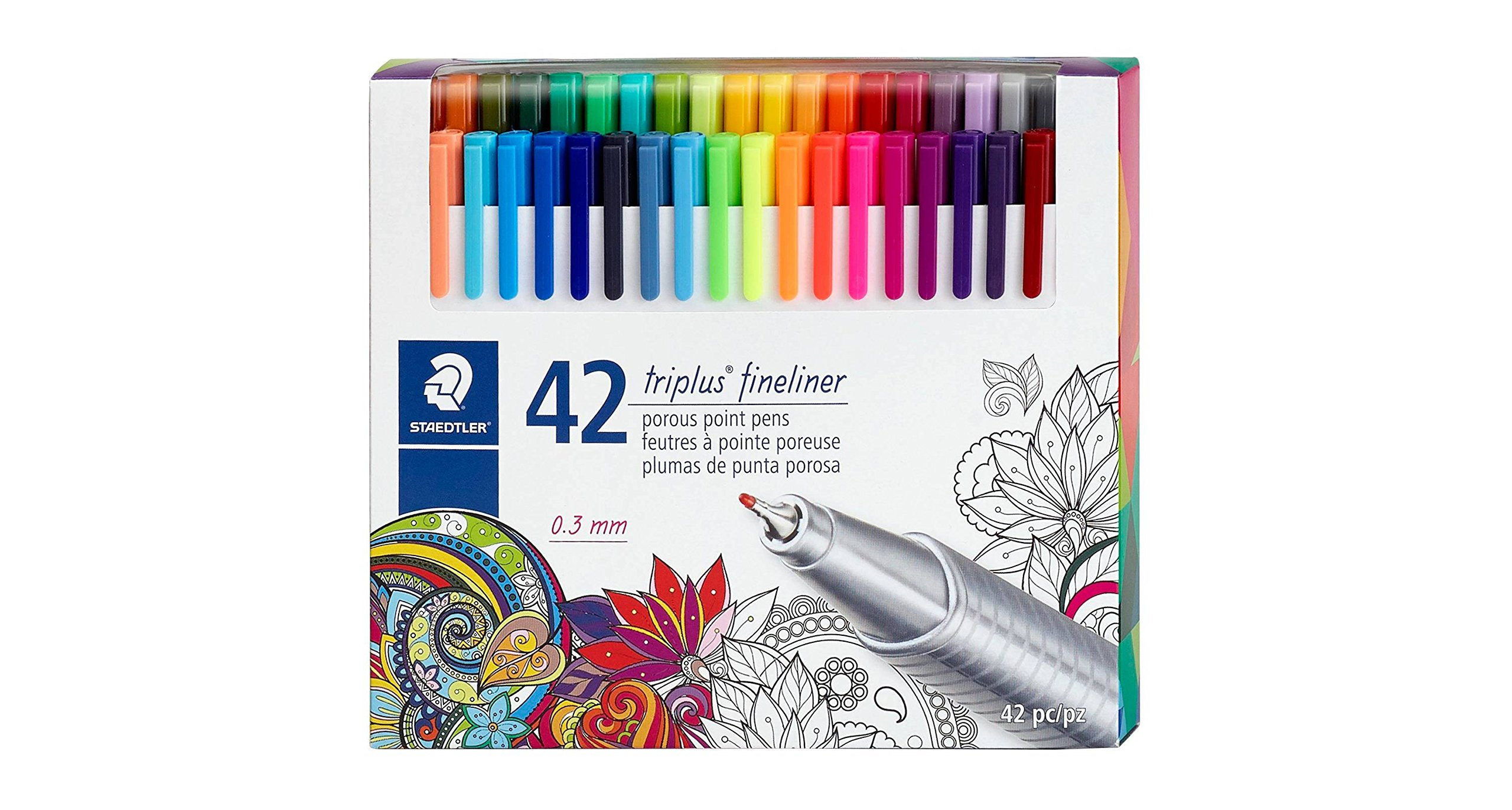 Staedtler174; triplus174; Fineliner Marker Pens, 42ct Multi-Colored