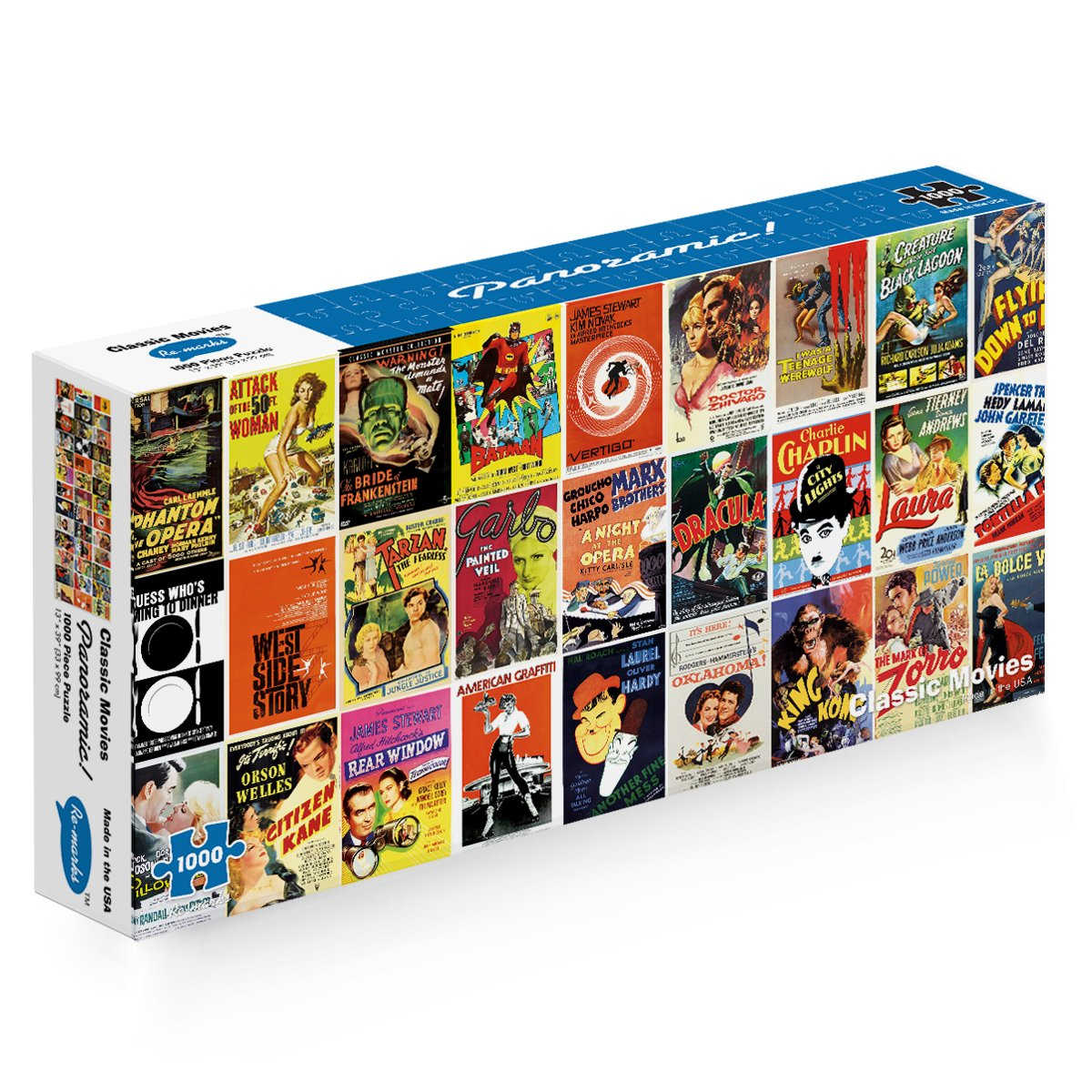 Re-marks Classic Movies Panoramic 1000 Piece Puzzle by Re-Marks