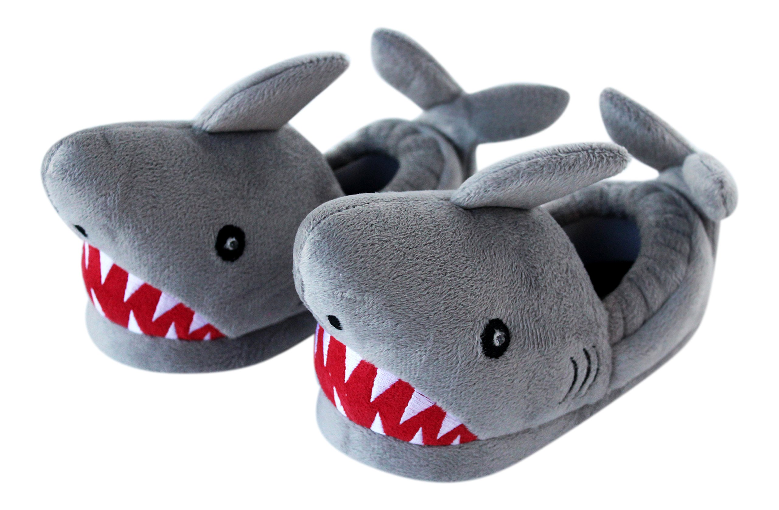 Trimfit Boys Light-Up Eyes Shark Slippers Moccasin, 13/1 by Trimfit