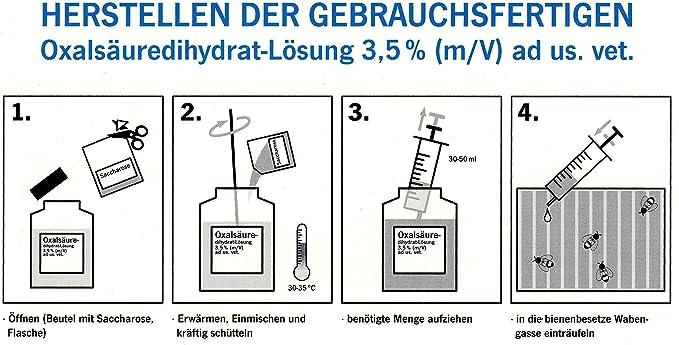 Oxalsäure gegen Varroa gebrauchsfertige Oxalsäuredihydrat-Lösung 3,5 /%