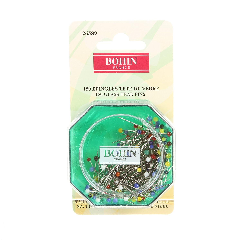 Bohin Glass Head Fine Pin Size 20-1 1//4in 150ct