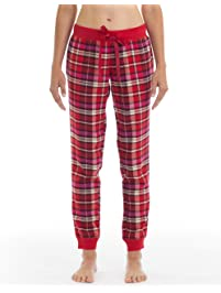 Joe Boxer Womens Sunday Morning Plaid Flannel Pant Bottoms