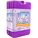 Bentgo Ice Lunch Chillers – Ultra-thin Ice Packs (4 Pack - Purple)