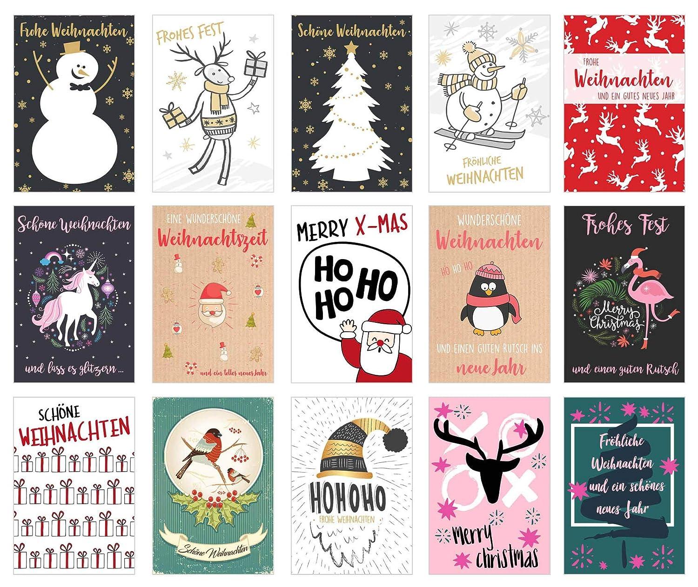 Set 30 Weihnachtspostkarten Weihnachten Karten Postkarten ...