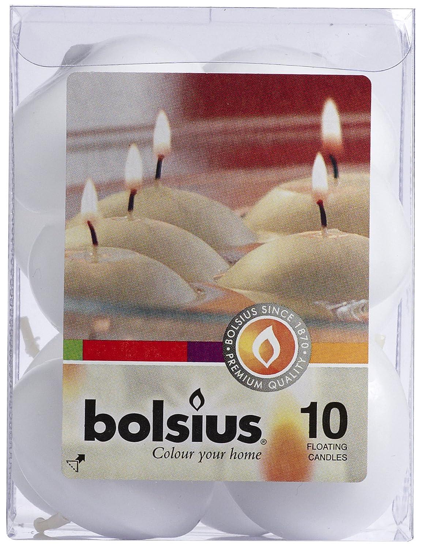 Bolsius 8717847039668 Candela Galleggiante, Cera, Bianco, 8.2 x 8.2 x 11.1 cm 103632052202