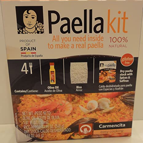 Amazon.com: Carmencita Paellero Kit ~ ~ 100% Natural ...