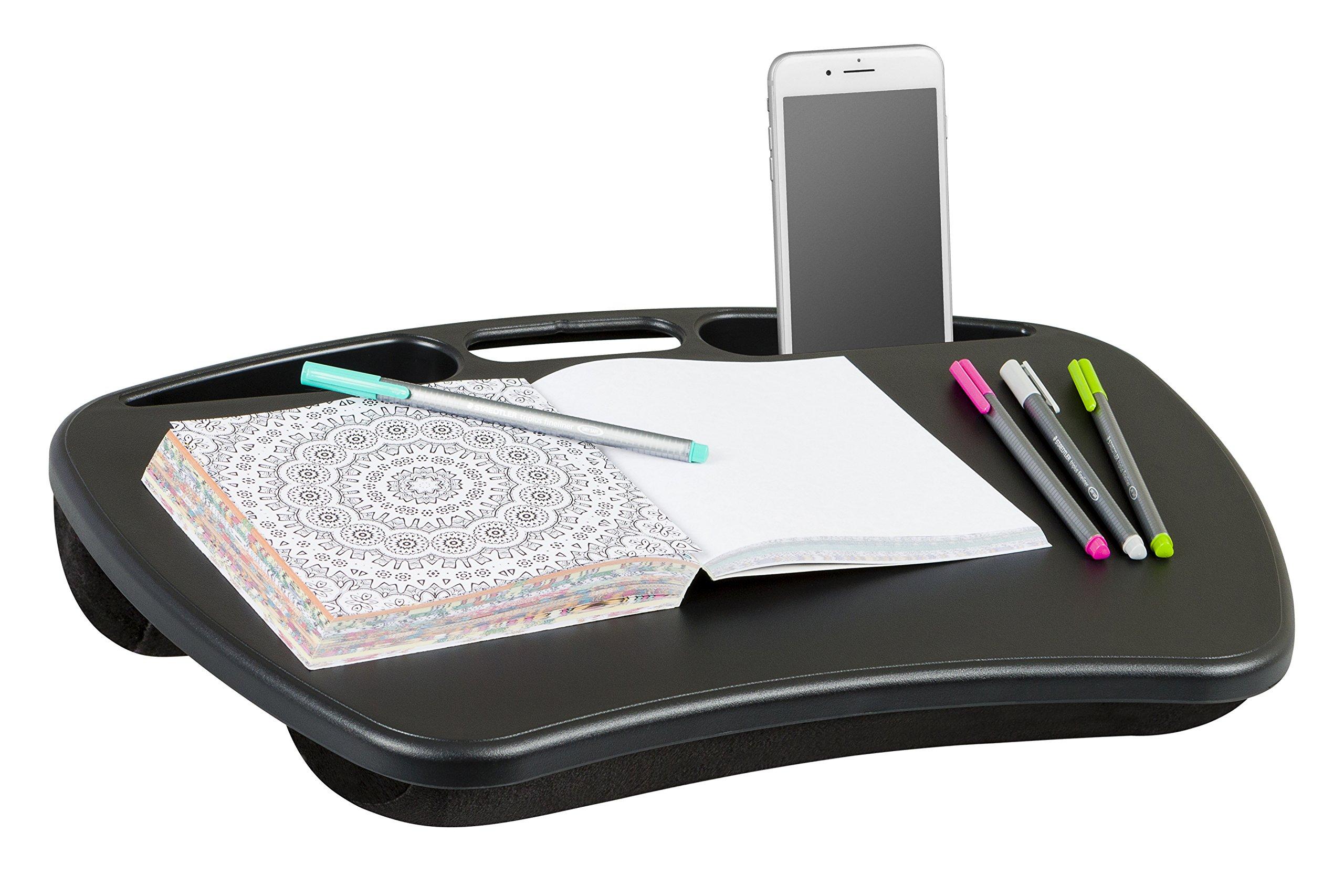 LapGear MyDesk Lap Desk - Black (Fits up to 15'' Laptop)