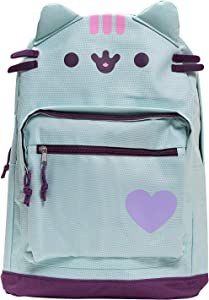 Pusheen The Cat Backpack Standard Size Backpack for Girls Everyday Use- Mint Green