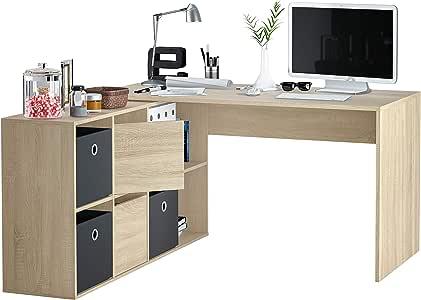 Habitdesign 004606F - Mesa Escritorio, Mesa despacho Reversible ...