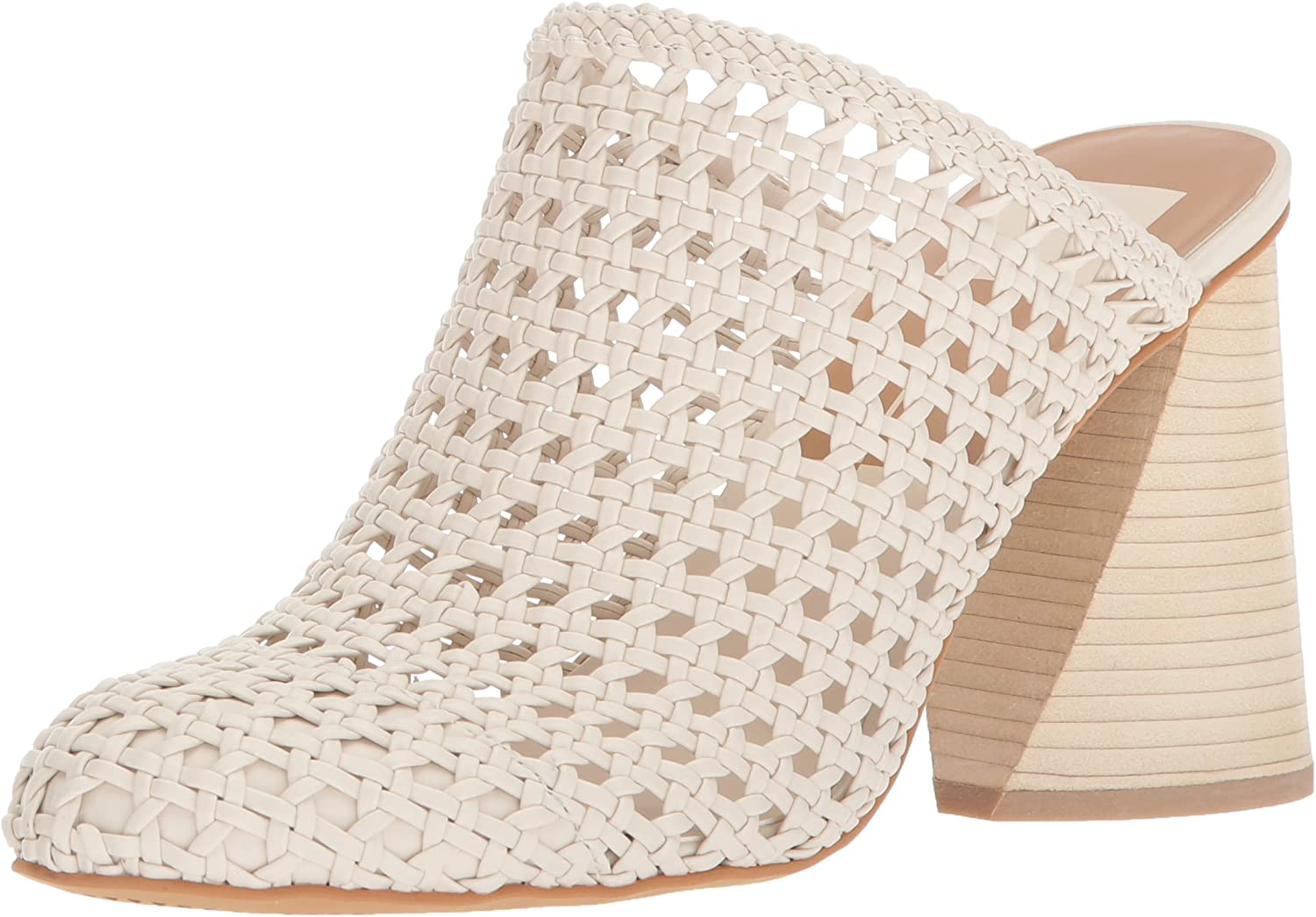 Dolce Vita Womens Ginny Leather Woven Casual Mules Shoes BHFO 6410