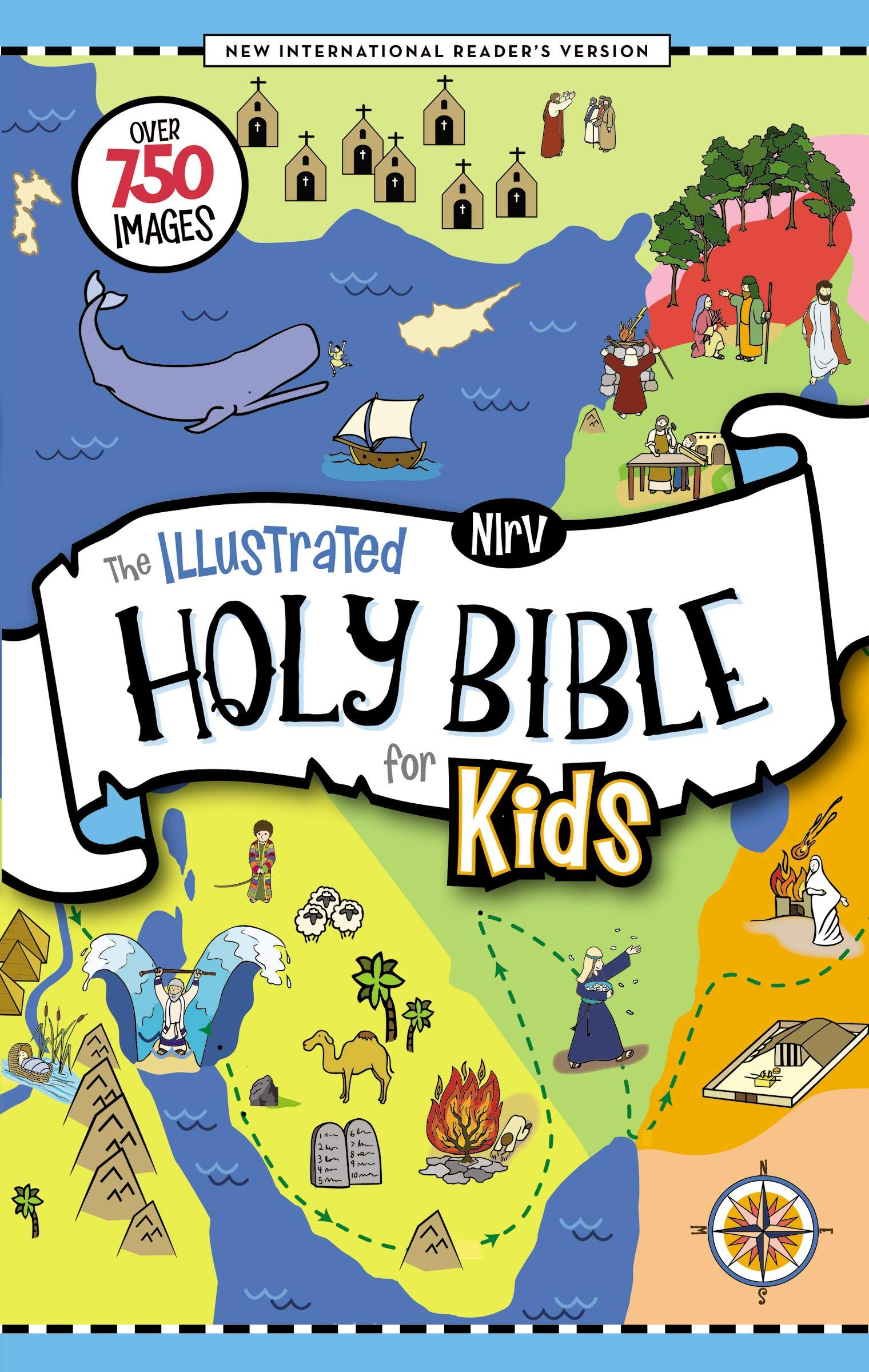 Nirv The Illustrated Holy Bible For Kids Hardcover Full Color Comfort Print Over 750 Images Zondervan 0025986765798 Amazon Com Books