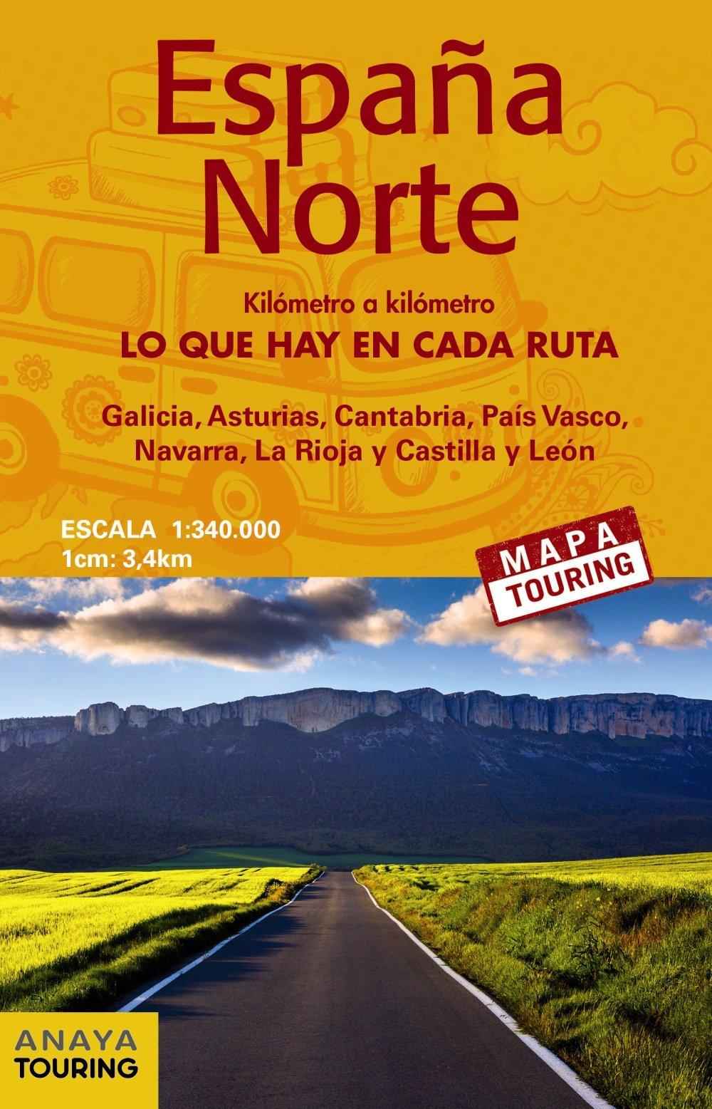 Mapa De Carreteras Espana Norte E 1 340000 Anaya Touring