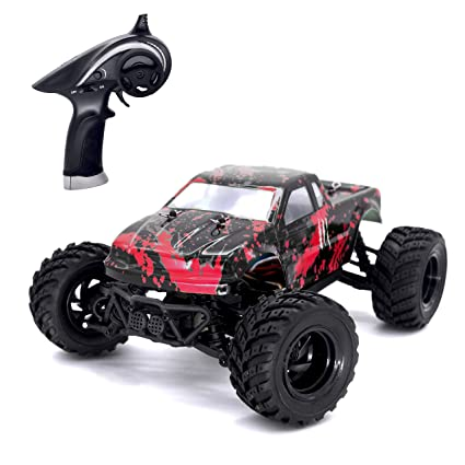 Remote Control Car Tecesy 1 18 Scale Rc Cars 4wd Fast 2 4ghz Remote Control Off Road Monster Truck Splashproof Electric 30 Mph Terrain Racing Toy Car
