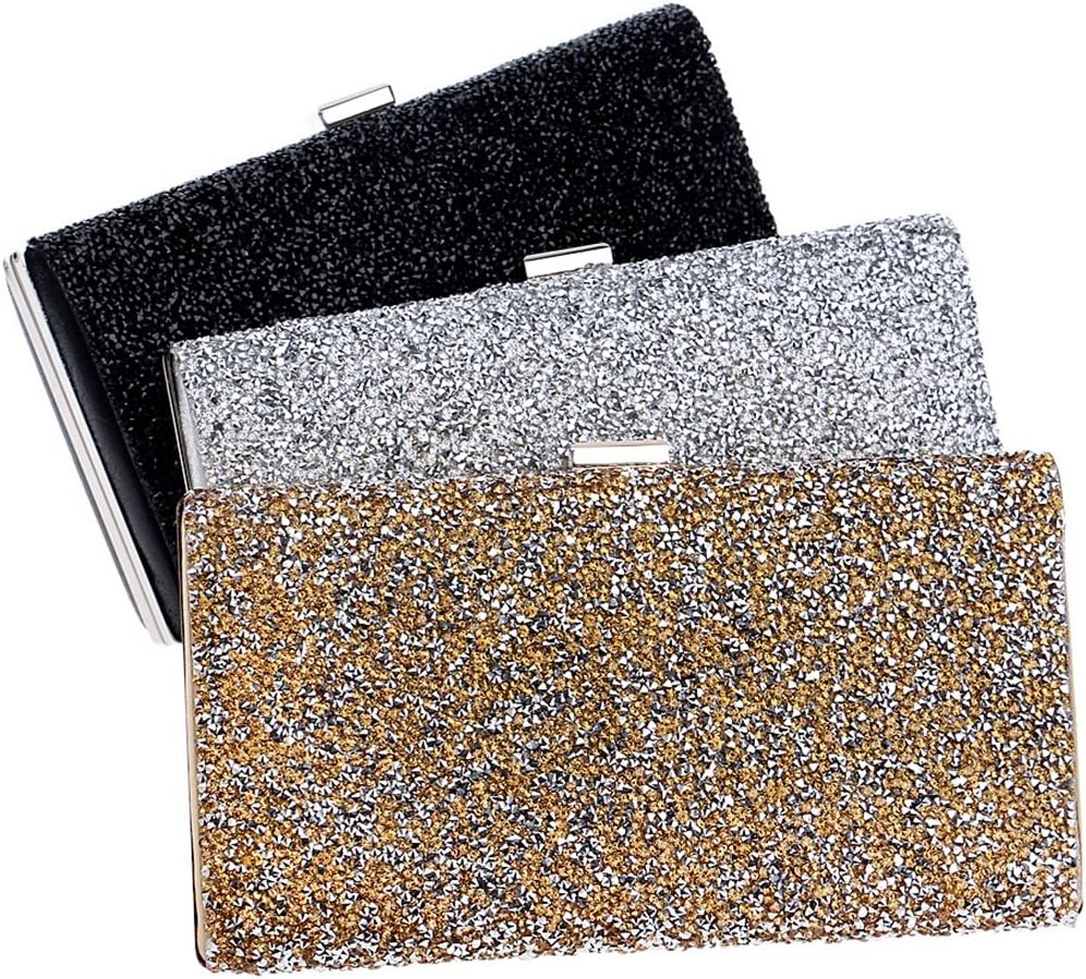 QARYYQ Stone Evening Bag Ladies Fashion Banquet Bag Dress Hand Evening Bag Evening Package Color : Silver